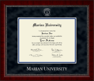 Marian University in Wisconsin Diploma Frame - Silver Embossed Diploma Frame in Sutton