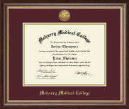 Meharry Medical College Diploma Frame - Gold Engraved Medallion Diploma Frame in Hampshire