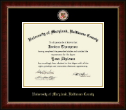 University of Maryland, Baltimore County Diploma Frame - Masterpiece Medallion Diploma Frame in Murano