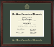 Northland International University Diploma Frame - Gold Embossed Diploma Frame in Studio Gold