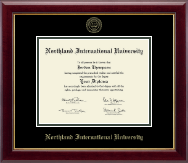 Northland International University Diploma Frame - Gold Embossed Diploma Frame in Gallery