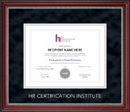 Human Resource Certification Institute Certificate Frame - Silver Embossed Certificate Frame in Kensington Silver