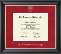 St. Lawrence University Diploma Frame - Masterpiece Medallion Diploma Frame in Noir