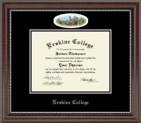 Erskine College Diploma Frame - Campus Cameo Diploma Frame in Chateau