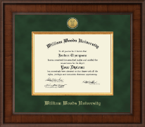 William Woods University Diploma Frame - Presidential Gold Engraved Diploma Frame in Madison