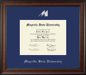 Mayville State University  Diploma Frame - Silver Embossed Diploma Frame in Studio