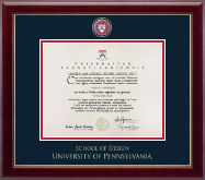 University of Pennsylvania Diploma Frame - Masterpiece Medallion Diploma Frame in Gallery