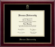 Brenau University Diploma Frame - Gold Embossed Diploma Frame in Gallery