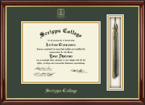 Scripps College Diploma Frame - Tassel Edition Diploma Frame in Southport Gold