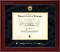 Wentworth Institute of Technology Diploma Frame - Presidential Gold Engraved Diploma Frame in Jefferson
