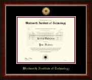 Wentworth Institute of Technology Diploma Frame - Gold Engraved Medallion Diploma Frame in Murano