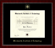Wentworth Institute of Technology Diploma Frame - Gold Embossed Diploma Frame in Sutton