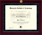 Wentworth Institute of Technology Diploma Frame - Millennium Gold Engraved Diploma Frame in Cordova