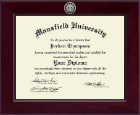 Mansfield University of Pennsylvania Diploma Frame - Century Silver Engraved Diploma Frame in Cordova