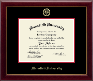 Mansfield University of Pennsylvania Diploma Frame - Gold Embossed Diploma Frame in Gallery