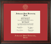 Arkansas State University Beebe Diploma Frame - Gold Embossed Diploma Frame in Studio