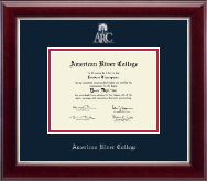 American River College Diploma Frame - Silver Embossed Diploma Frame in Gallery Silver