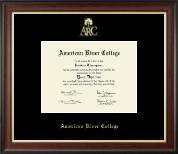 American River College Diploma Frame - Gold Embossed Diploma Frame in Studio Gold