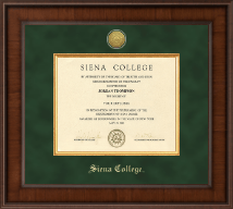Siena College Diploma Frame - Presidential Gold Engraved Diploma Frame in Madison