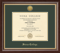 Siena College Diploma Frame - Gold Engraved Medallion Diploma Frame in Hampshire