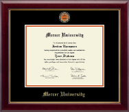 Mercer University Diploma Frame - Masterpiece Medallion Diploma Frame in Gallery