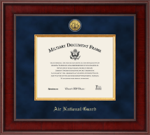 Air National Guard Certificate Frame - Presidential Gold Engraved Air National Guard Certificate Frame in Jefferson