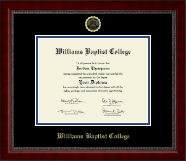 Williams Baptist College Diploma Frame - Gold Embossed Diploma Frame in Sutton