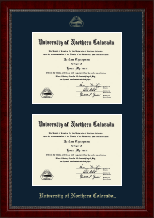 University of Northern Colorado Diploma Frame - Double Diploma Frame in Sutton
