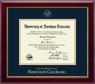 University of Northern Colorado Diploma Frame - Gold Embossed Diploma Frame in Gallery