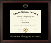 Oklahoma Wesleyan University Diploma Frame - Gold Embossed Diploma Frame in Studio Gold