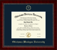 Oklahoma Wesleyan University Diploma Frame - Gold Embossed Diploma Frame in Sutton