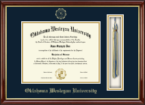 Oklahoma Wesleyan University Diploma Frame - Tassel Edition Diploma Frame in Southport Gold