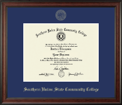Southern Union State Community College Diploma Frame - Gold Embossed Diploma Frame in Studio