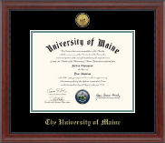 The University of Maine Orono Diploma Frame - Gold Engraved Medallion Diploma Frame in Signature