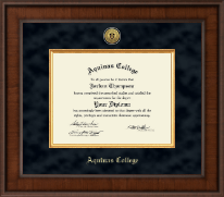 Aquinas College in Michigan Diploma Frame - Presidential Gold Engraved Diploma Frame in Madison
