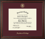 Aquinas College in Michigan Diploma Frame - Gold Embossed Diploma Frame in Studio