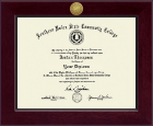 Southern Union State Community College Diploma Frame - Century Gold Engraved Diploma Frame in Cordova