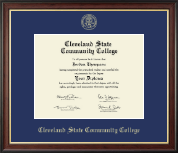 Cleveland State Community College Diploma Frame - Gold Embossed Diploma Frame in Studio Gold
