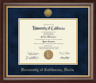 University of California Davis Diploma Frame - Gold Engraved Medallion Diploma Frame in Hampshire