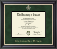 The University of Vermont Diploma Frame - Masterpiece Medallion Diploma Frame in Noir