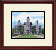 Syracuse University Diploma Frame - Framed Lithograph of Hall of Languages in Kensington Gold