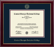 Central Georgia Technical College Diploma Frame - Gold Embossed Diploma Frame in Gallery