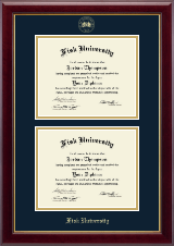 Fisk University Diploma Frame - Double Diploma Frame in Gallery