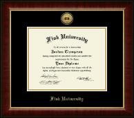 Fisk University Diploma Frame - Gold Engraved Medallion Diploma Frame in Murano