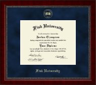 Fisk University Diploma Frame - Gold Embossed Diploma Frame in Sutton