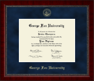 George Fox University Diploma Frame - Gold Embossed Diploma Frame in Sutton