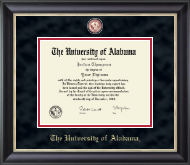 The University of Alabama Tuscaloosa Diploma Frame - Crimson Masterpiece Medallion Diploma Frame in Noir