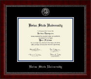 Boise State University Diploma Frame - Silver Embossed Diploma Frame in Sutton