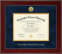 Christopher Newport University Diploma Frame - Presidential Gold Engraved Diploma Frame in Jefferson