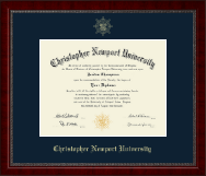 Christopher Newport University Diploma Frame - Gold Embossed Diploma Frame in Sutton